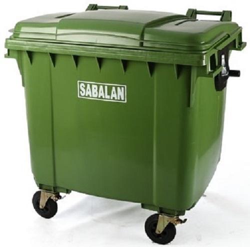 سطل زباله پلاستیکی چرخدار صنعتی