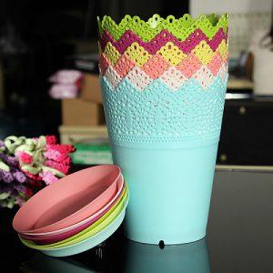 گلدان پلاستیکی عمده ارزان